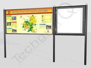 wizualizacja gabloty informacyjnej TQK KOMBI