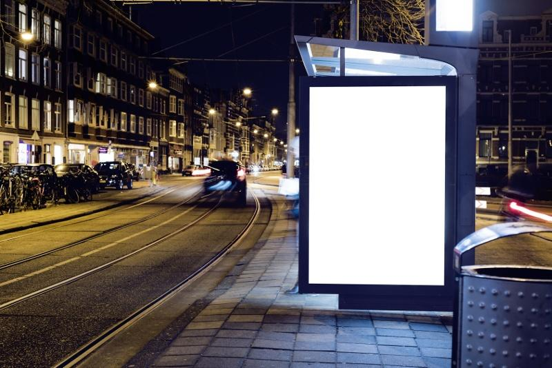 Gabloty z ruchomą reklamą
